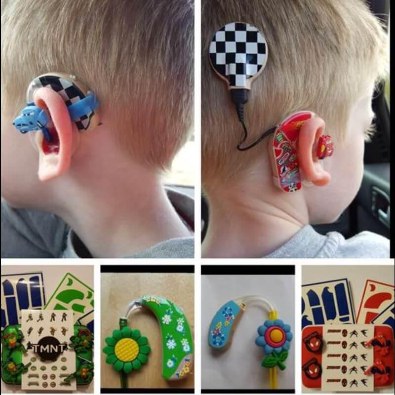 Bunte Hörgeräte für Kinder