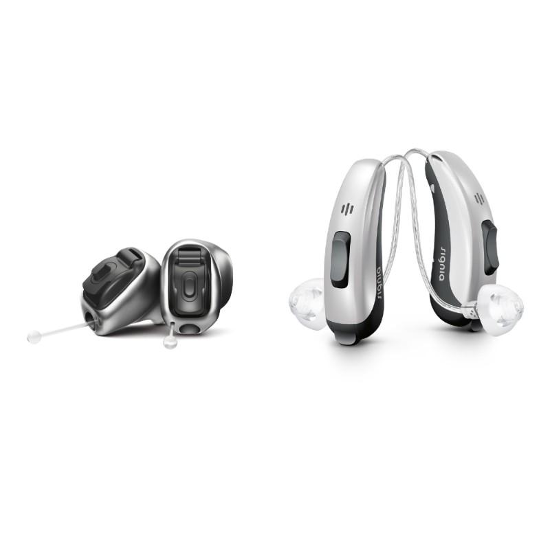 In dem Ohr Hörgeräte oder Hinter dem Ohr Hörgeräte
